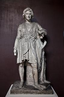 Bertel Thorvaldsen: Selbstbildnis mit der Statue der Hoffnung, 1839