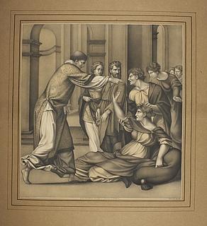 Sankt Cyriakus uddriver dæmonen fra den besatte Jobias