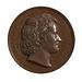 Medalje forside: Portræt af Thorvaldsen