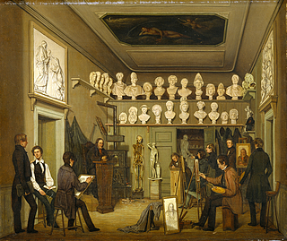 En malerstue på Charlottenborg
