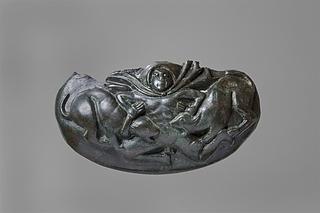 Hankattache med Aktæon, der angribes af sine hunde. Etruskisk