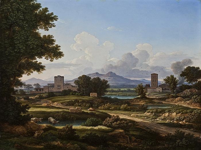 Romersk landskab, komponeret over egnen ved Torre del Quinto