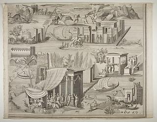 Nil-mosaikkerne også kendt som Barberini-mosaikken, detalje
