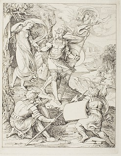 Fingal befrier Torcul-torno's datter fra grotten, Cathloda 1. sang