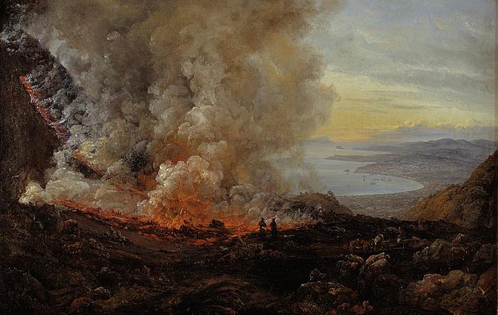 J.C. Dahl: Vesuvs udbrud, 1820