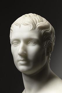 Thorvaldsen: Caspar Bartholin, marmor, 58 cm, privateje