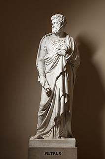 Peter, marmor, Vor Frue Kirke