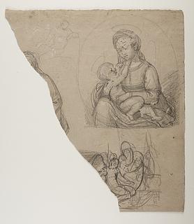 Bertel Thorvaldsen: Maria med barnet. Amor hos Anakreon. Mandlig model (?), 1807-10 (Copyright tilhører Thorvaldsens Museum)