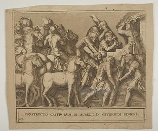 Romerske soldater anlægger en fæstning