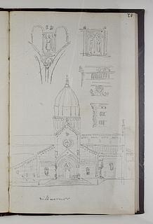 San Criaco-katedralen i Ancona, opstalt af facade og detaljer
