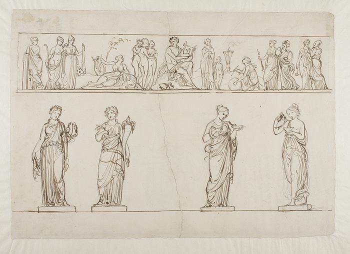 Apollon. Gratierne og Muserne. Stauter af Flora, Pommona, Hygiea og Hebe
