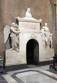 Giuseppe de Fabris: Gravmæle for grevinde Prassede Tomati Robillant, Sant'Andrea della Valle, Rom