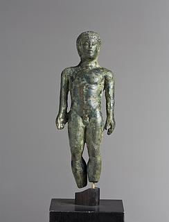 Atlet med en strigilis. Etruskisk statuette