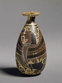 Alabastron med en sirene. Græsk korinthisk