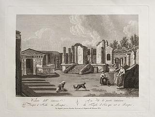 Veduta dell' interno del Tempio d'Iside in Pompei