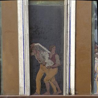 Jørgen Sonnes frise, facaden af Thorvaldsens Museum, felt 47