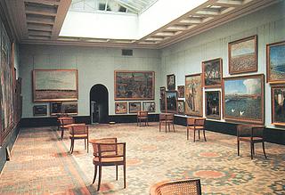 Faaborg Museum. Store malerisal set mod køjerne