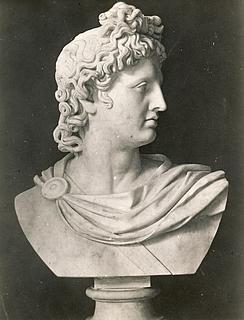 Bertel Thorvaldsen: Apollo Belvedere, c. 1805-1810, marmor, uvist opholdssted, foto 1927
