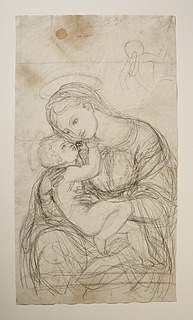 Bertel Thorvaldsen: Maria med barnet, 1802-1803 - Copyright tilhører Thorvaldsens Museum