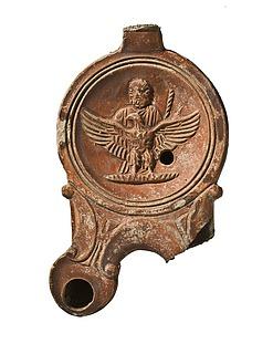 Lampe med Jupiter og ørnen. Romersk