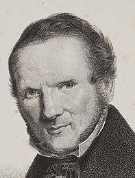 Wilhelm Heuer efter maleri af Christen Købke: Wilhelm Bendz, 1834