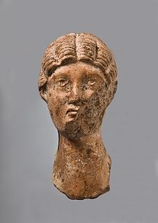 Miniaturebuste af en kvinde. Romersk