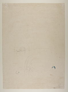 Rundbuet niche løst skitseret til monument over Pius 7.