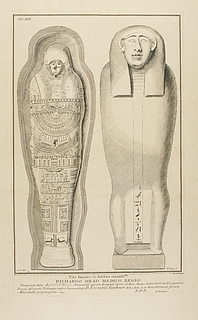 Mumiekiste med mumie