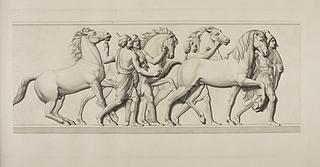 Fire babylonere med heste
