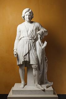 Bertel Thorvaldsen: Selvportrætstatue, 1839 - Copyright tilhører Thorvaldsens museum