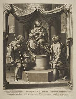 Maria med barnet og Sant Rocco og Sant Sebastian