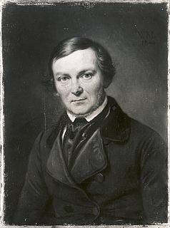 Portræt af arkitekten Gottlieb Bindesbøll
