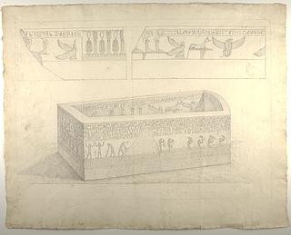 Sarkofag med hieroglyffer