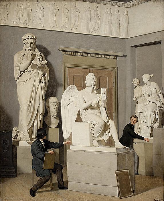 Julius Exner, Fra Kunstakademiets figursal, 1843