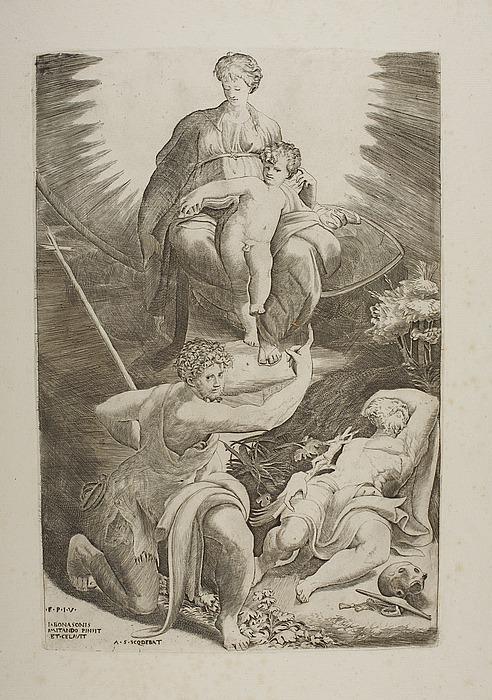 Sankt Hieronymus' vision af Madonna med Barnet og Johannes Døberen