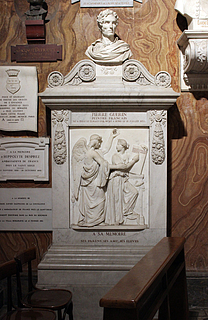Paul Lemoyne: Monument for Pierre Guerin, marmor, S. Luigi dei Francesi, Rom