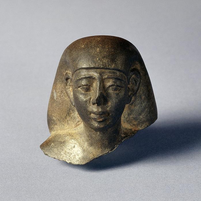 Statuette af en mand. Ægyptisk, Sentiden