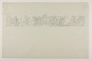 Frise med Apollon, gratiene og Muserne