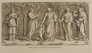 Amor Poeta et Mnemosyme Musarem mater ( Amor, Mnemosyne og fire andre muser )