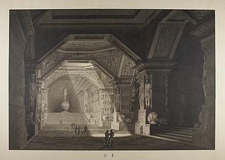 Ægyptisk tempel eller mausoleum