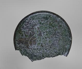 Spejl med en kvindelig vinget dæmon. Etruskisk