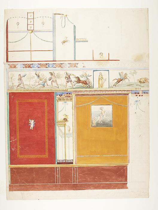 Vægdekoration fra Casa del poeta tragico i Pompeji