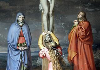 J.L. Lund: Korsfæstelsen, Holtug kirke, detalje