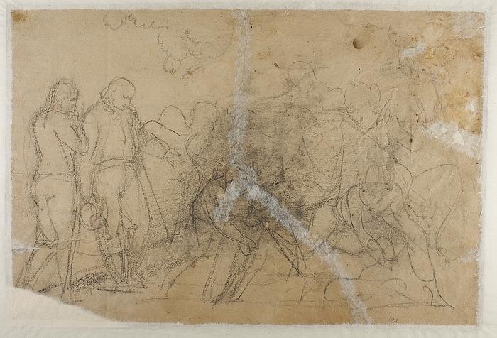 Amor hos Bacchus og Ariadne. Begravelsesscene (?)