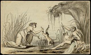 Thetis dypper Achilleus i floden Styx