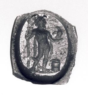 Zeus med scepter og ørn ved et alter. Hellenistisk-romersk paste