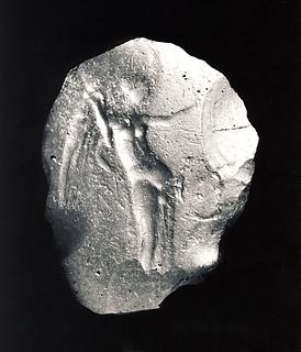 Nike med en palmegren. Græsk hellenistisk paste