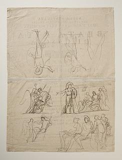 Hektor, Paris og Helena. Amor og Bacchus