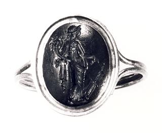 Fortuna med skibsror og overflødighedshorn. Hellenistisk-romersk ringsten