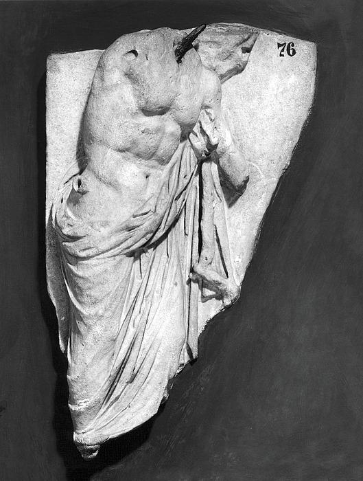 Votivrelief med Asklepios (?). Græsk hellenistisk